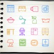 Furniture icon set — 图库矢量图片 #40868317