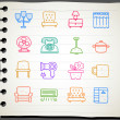 Furniture icon set — Vector de stock #40868327