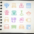 Furniture icon set — Vettoriale Stock #40868327