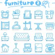 Stock Vector: Hand drawn furniture icon