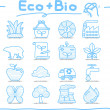 Hand drawn ECO , BIO icon set — Stock Vector #40868521