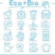 Hand drawn ECO , BIO icon set — Stock Vector #40868527