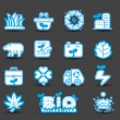 Stock Vector: Bio icons