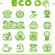 Stock Vector: Hand drawn Eco Icon