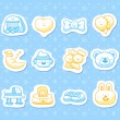 Baby icons — Stock Vector