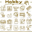 Hobby, Leisure and Holiday Icons — Stock Vector #40868675