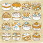 Cake ,snack ,tea time icon set. — Stock Vector