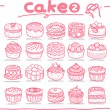Cake icons — Stock Vector
