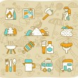 Camping icon set — Stock Vector #40868795