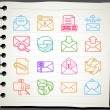 Correspondation icons — Vector de stock #40869085