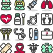 Medical ,Emergency ,health care icons set — Stock Vector #40869123