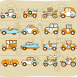 Old cars,transportation , automobile, icon set — Stock Vector #40869251