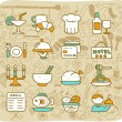 Restaurant,food, icon set — Stock Vector