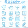 Stock Vector: Hand drawn soccer,sport icon set