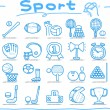 Hand drawn sport icon set — Stock Vector #40869727
