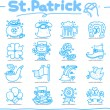 St. Patricks day icon — Stock Vector