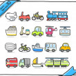 Transport icons — Stock Vector #40869905