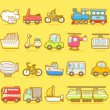 Transport icons — Stock Vector #40869917