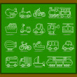 Transport icons — Stock Vector #40869939