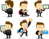 Businessman & tablet pc — Stock Vector