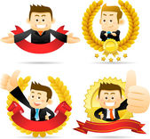 Victorious Businessman — Stock Vector