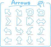 Hand drawn Arrow Sign — Stock Vector