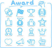 Award icon set — Stock Vector