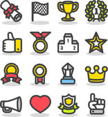 награды & призы икона set — Cтоковый вектор
