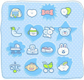 Cute baby elements. — Stock Vector