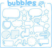 Speech And Thought Bubbles — Vector de stock