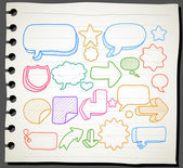 Speech And Thought Bubbles — Stockvector