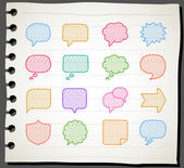 Speech And Thought Bubbles — Wektor stockowy
