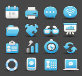 Business , internet,office,work icon set — Stock Vector