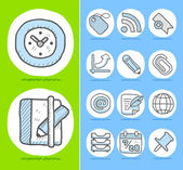 Business,office icon set — Stock Vector