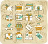 Shopping,business ,office,internet icon set — 图库矢量图片