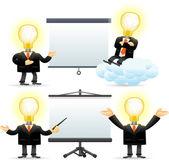 Bulb man concept — Stock Vector