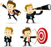 Businessman,Successful set — Stock Vector