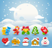 Christmas icon & background collection — Stock Vector