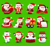 Santa clause icon set — Stock Vector