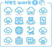 Network,Business,Internet icon set — Stock Vector