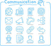 Communication , Network icon set — Stock Vector