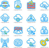 Cloud computing icon set — Vetor de Stock
