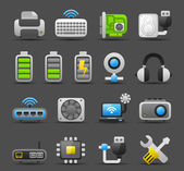Computer Gadgets icon set — Stock Vector
