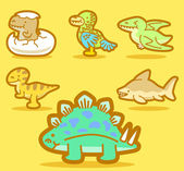 Cute dinosaur collection — Vettoriale Stock