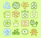 Bio icons — Stock Vector