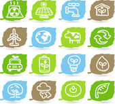 Green environment icon set — Stock Vector
