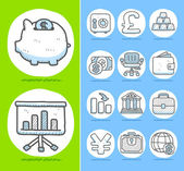 Finance,Banking,Business icon set — Stock Vector