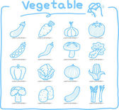 Hand drawn vegetable icons set — Stock Vector