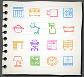 Furniture icon set — Stock Vector