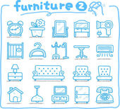 Hand drawn furniture icon — Stock Vector